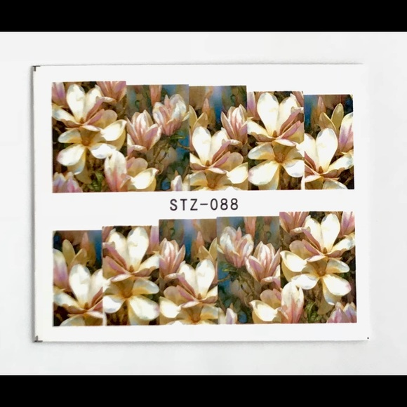 picture relating to Printable Nail Decals known as 3D White Flower Nail Artwork Decals Boutique